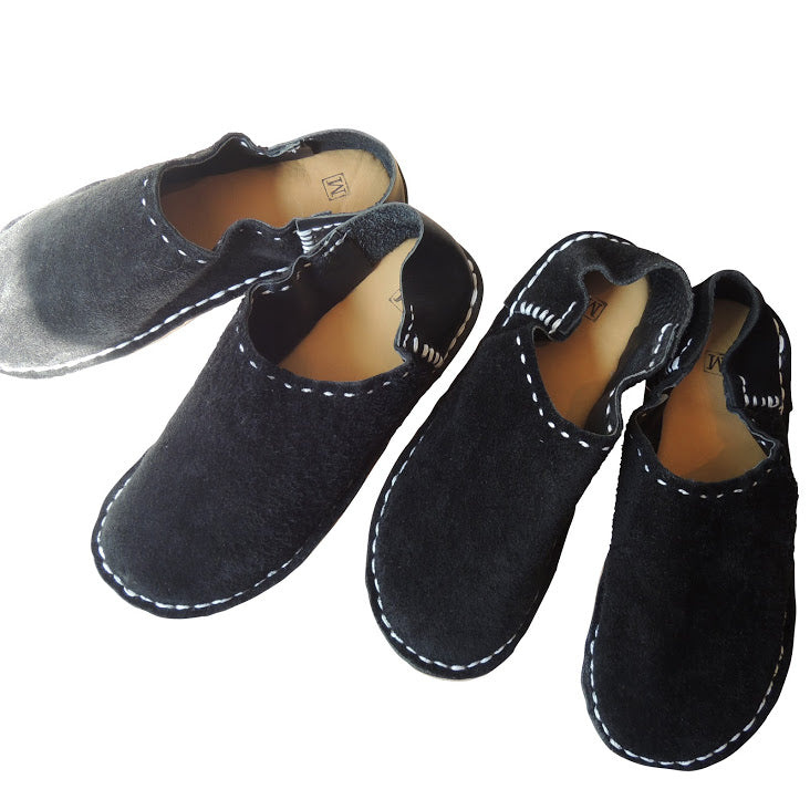 Medium 24cm: Scrappy leather slippers [suède type] - Heiwa Slipper