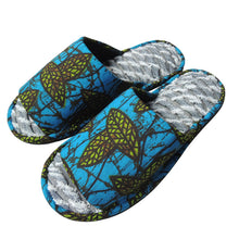[Size 26m]  AOBA Open toe Batik×Denim upcycle soles slippers #1 - Heiwa Slipper