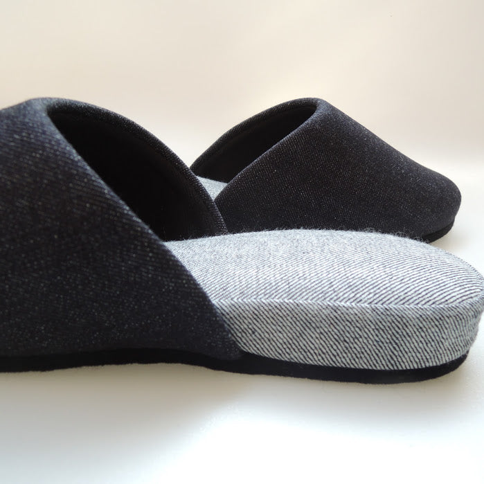 Denim Hiroshima Slippers Simple / 3 size - Heiwa Slipper