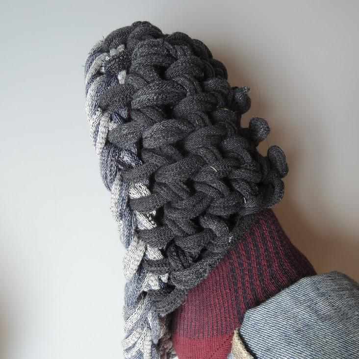 Knit upcycle slippers #7-2019 - Heiwa Slipper