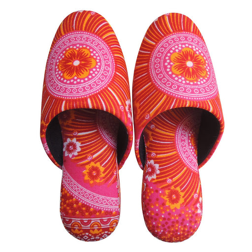 Medium [25cm] : Batik Mix Slippers (AkaHana-Deha)  HM - Heiwa Slipper