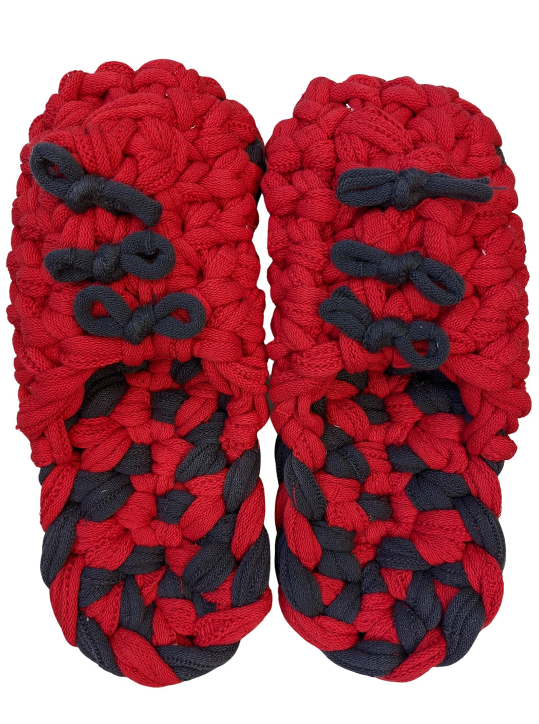 XL | Knit upcycle slippers 2020AW-03 [XL]