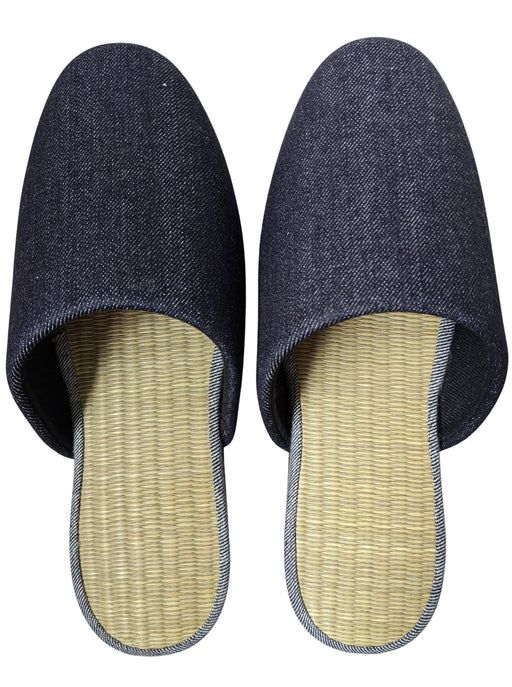 TATAMI Slippers Type#3  [Black Wool Felt Sole] / Simple [Denim Hiroshima]