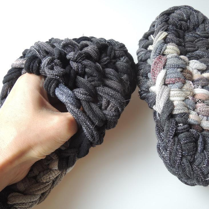Knit upcycle slippers #6-2019 - Heiwa Slipper