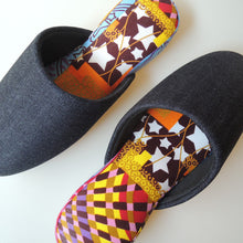 Medium / Denim Hiroshima MIX × Batik Slippers (RAiMU)【JP25cm】HM - Heiwa Slipper