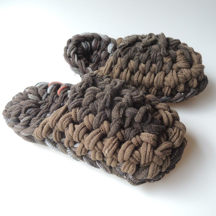 Knit upcycle slippers #15-2019 - Heiwa Slipper