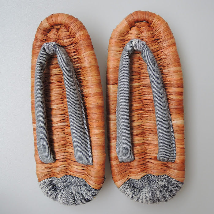 Corn Husks Upcycle Zouri Slippers / #2019-M/ Medium - Heiwa Slipper