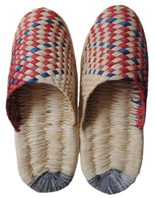 SALE: Corn Husks Upcycle Slippers / #2019-016 / Medium