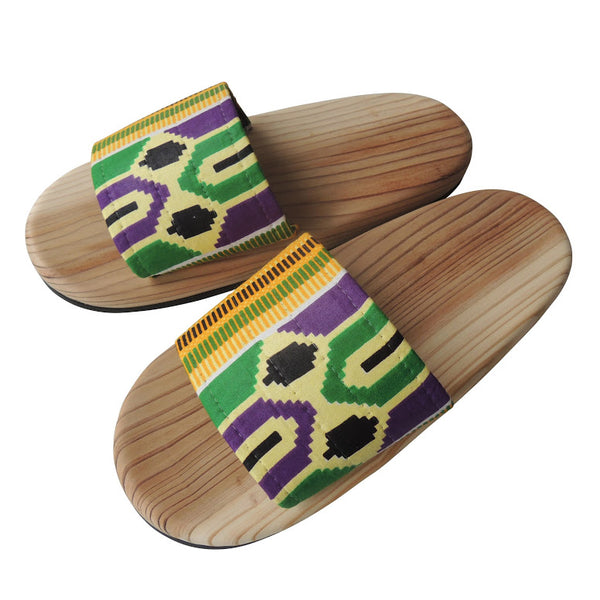 [Large] Wooden slip on sandals Degi-KAME [Large] SP-0047-011 - Heiwa Slipper