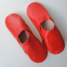Moroccan Slippers Leather Sheepskin  [Red]  Free Shipping - Heiwa Slipper