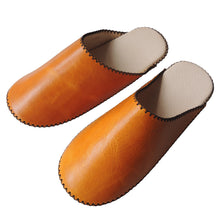 [Summer] Large: TOKYO Leather simple slippers [SUMMER] Chrome-free - Heiwa Slipper