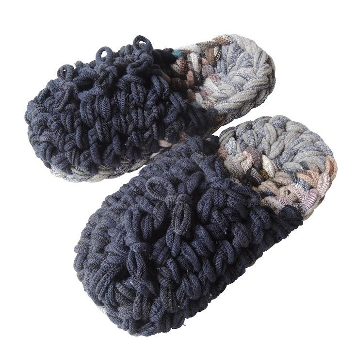 Knit upcycle slippers #13-2019 - Heiwa Slipper