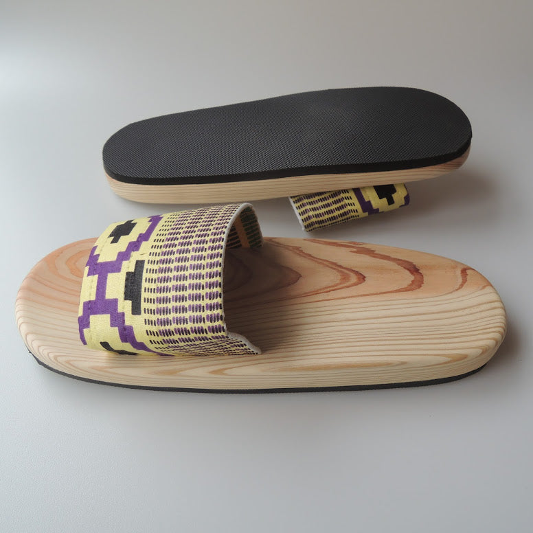 [XL] Wooden slip on sandals KIMO-ken UE [XL] SP-0047-018 - Heiwa Slipper