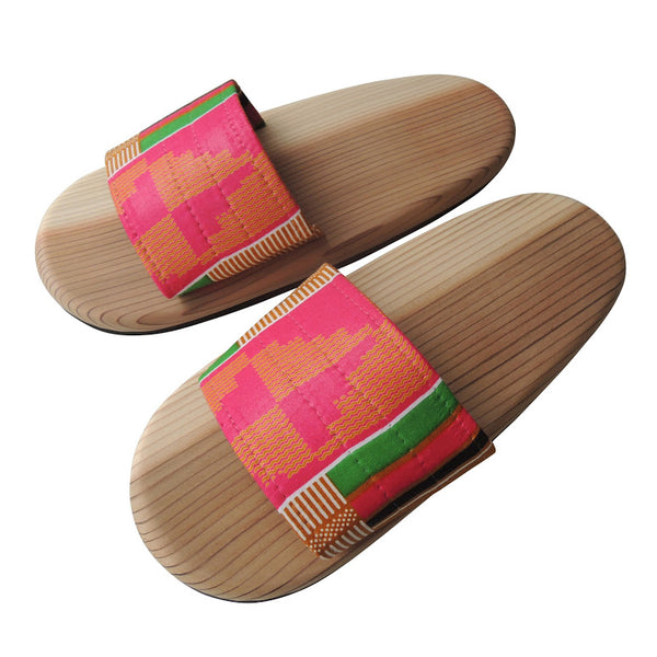 [Large] Wooden slip on sandals Pinky-Kenty TATE [Large] SP-0047-010 - Heiwa Slipper