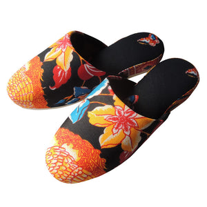 Medium / Batik Mix Slippers  (YorunoGAGA)【JP25cm】HM/SP-0043 - Heiwa Slipper