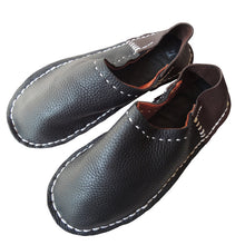 Large 27-28cm: Scrappy leather slippers #1 [SP-0074-004] - Heiwa Slipper