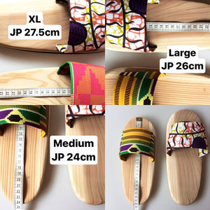 Wooden slip on sandals NA2-YASUmee [Large]