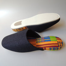 XL : Denim Hiroshima MIX × Batik Slippers (Kenthy 2018)【JP 29cm】 - Heiwa Slipper