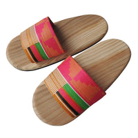 [Large] Wooden slip on sandals Pinky-Kenty  [Large] SP-0047-007 - Heiwa Slipper