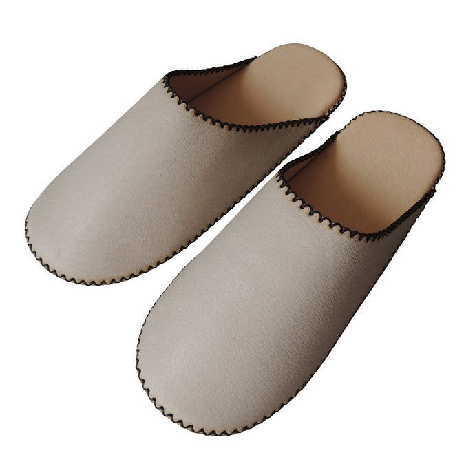 Small:TOKYO Leather simple slippers [cloud] Chrome-free - Heiwa Slipper