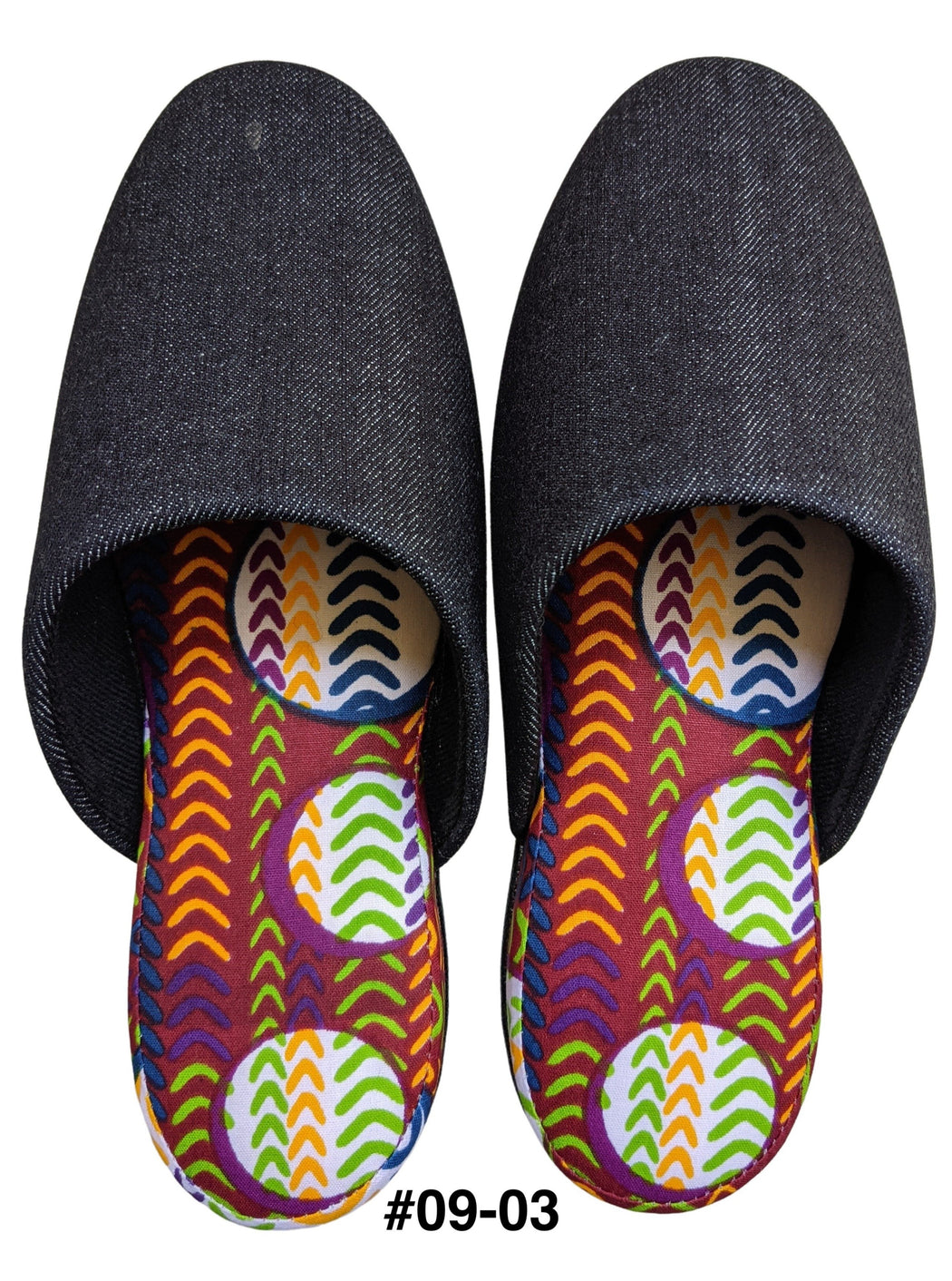 Small : Denim Mix Slippers 2021SS-09 [vinyl sole] [Size: Small]