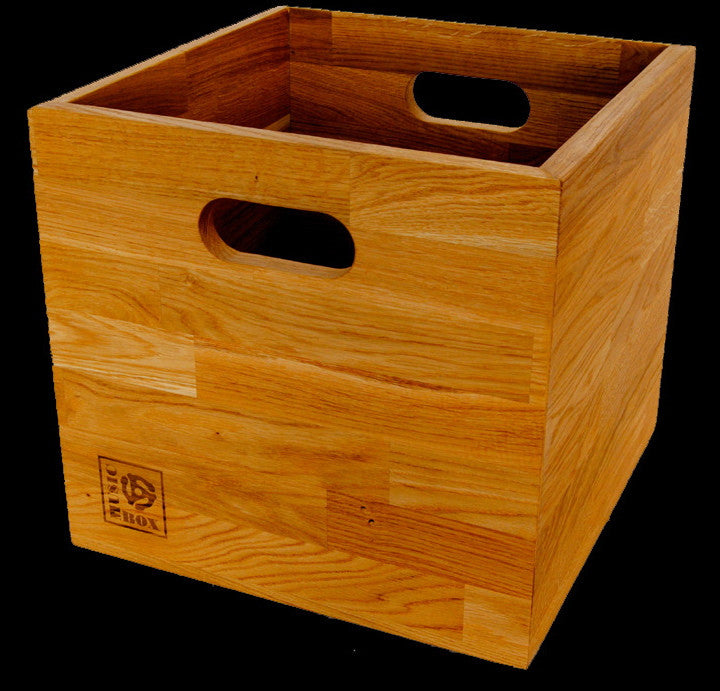 Oiled Oak Lp Storage Box Music Box Designs