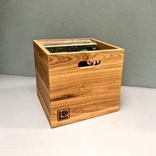 Load image into Gallery viewer, The Music Box-Oiled Oak LP Storage  Box Set Gift Pack