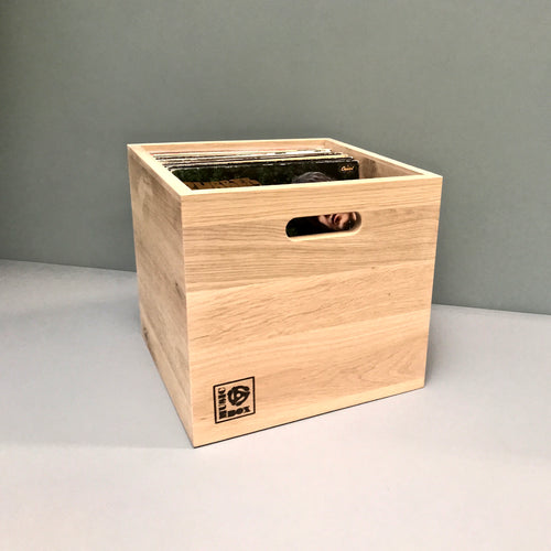Natural Oak LP Storage Box