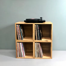 Load image into Gallery viewer, The Fab Four-Oiled Oak Music Box Set-LP Storage 15% off Each Music Box