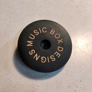 Black Magic- Handmade Jet Black Epoxy Resin 45 Record Adapter
