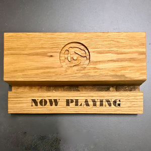 """Groove Deluxe"" Oak Record Display Holder"