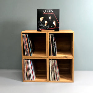 The Fab Four-Oiled Oak Music Box Set-LP Storage 15% off Each Music Box