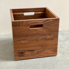Load image into Gallery viewer, Walnut LP Storage Music Box- Limited Run