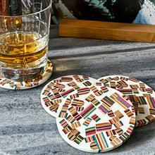 Load image into Gallery viewer, Limited Edition -Whiskey and Vinyl Laser Engraved Oak LP Storage Box with handmade White Epoxy Resin Coaster Gift Set
