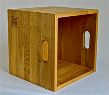 Load image into Gallery viewer, Oiled Oak LP Storage Box