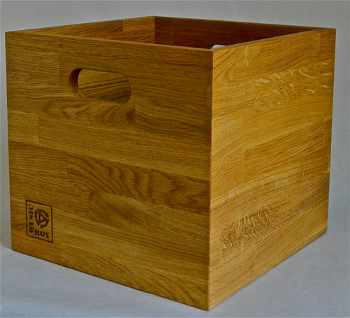 Oiled Oak LP Storage Box