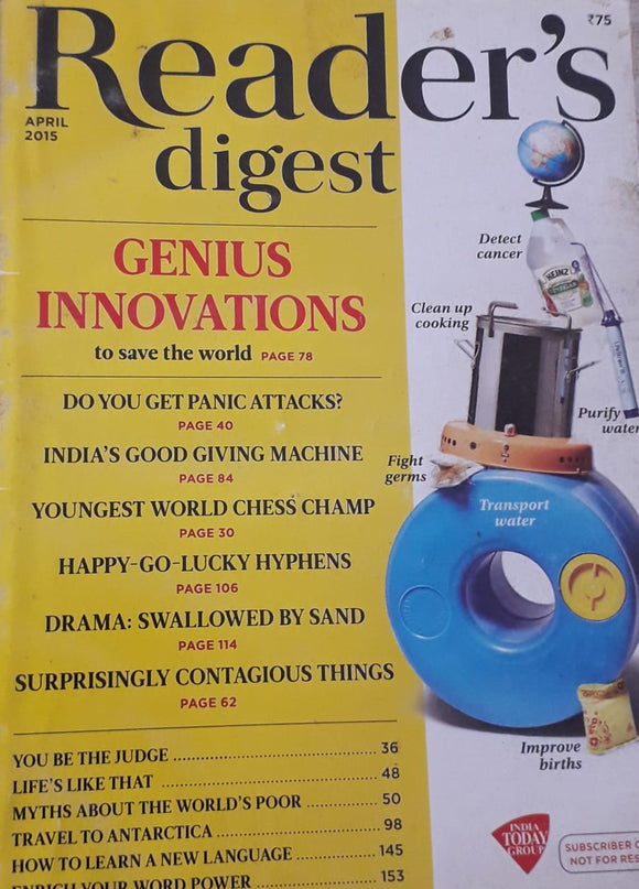 Reader's Digest April 2015