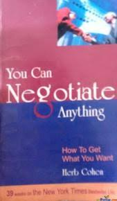 You Can Negotiate Anything (How To Get What You Want), By Herb Cohen