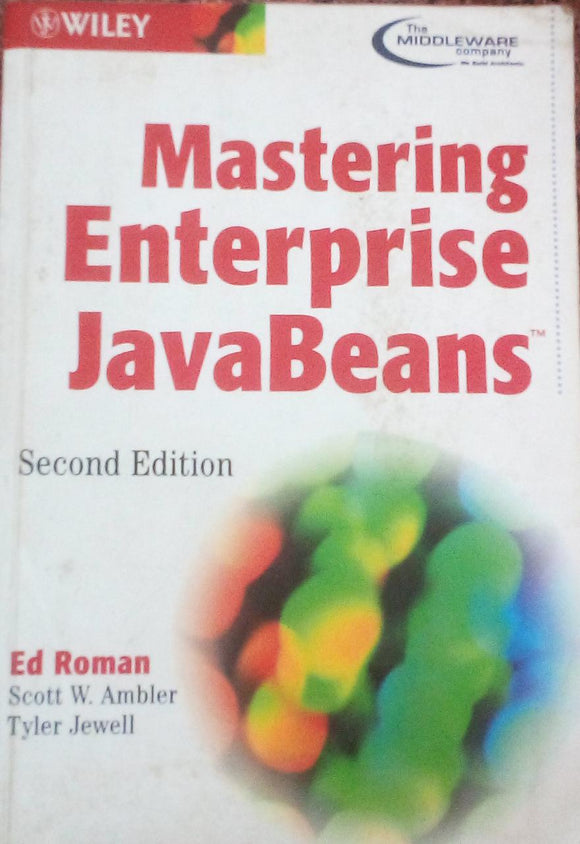 Mastering Enterprise Java Beans Second Edition By Ed Roman