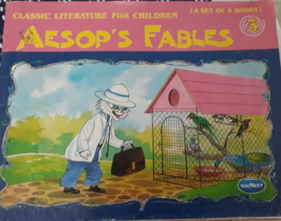 Classic Literature for children - Aesop's Fables No 3 (Set of 5 Books)