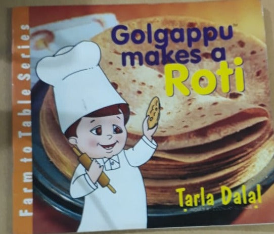 Golgappu makes a Roti - By Tarla Dalal