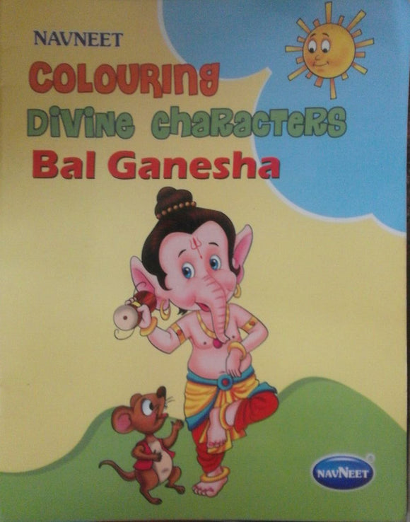 Colouring Divine Characters Bal Ganesha