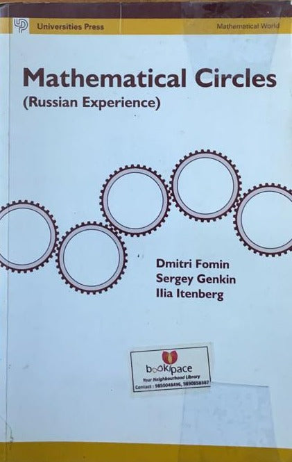 Mathematical Circles (Russian Experience) by Dmitri Fomin, Sergey Gnkin, Ilia Itenbery