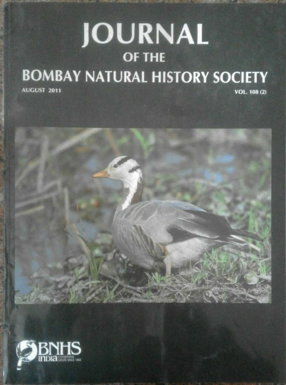 Journal Of The Bombay Natural History Society Aug 2011