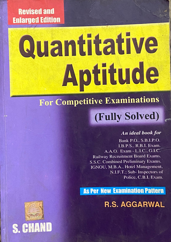 Quantitative Aptitude by R A Aggarwal