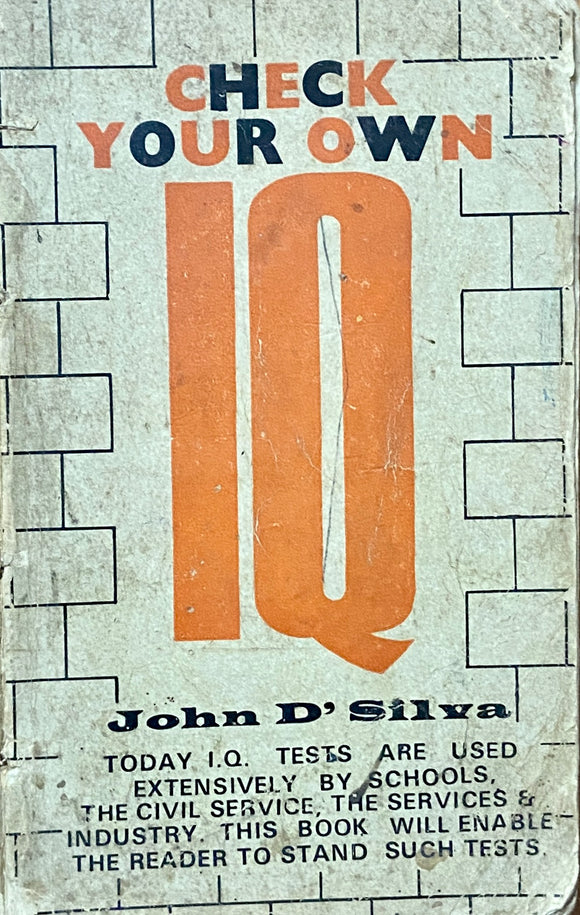 Check your Own IQ by John D'Silva