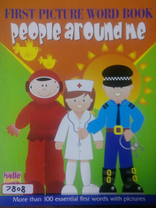 First picture word book: People around me