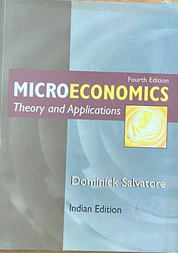 Microeconomics Theory and Applications by Dominick Salvatore