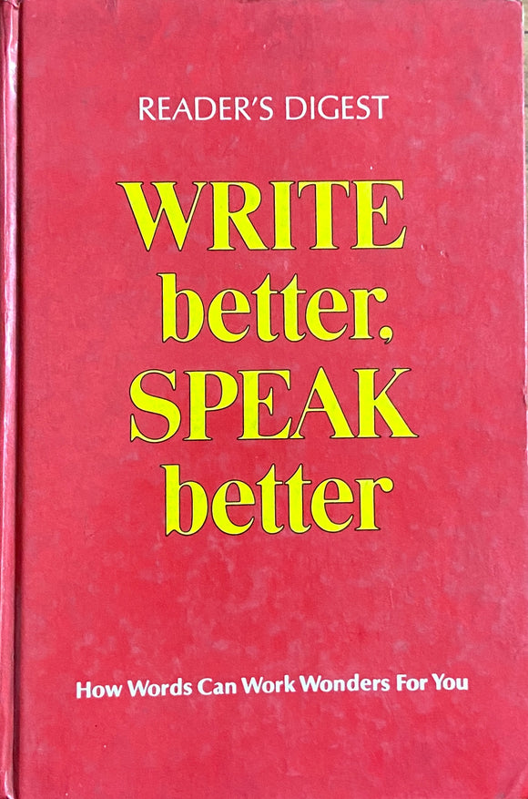 Readers Digest Write Better Speak Better