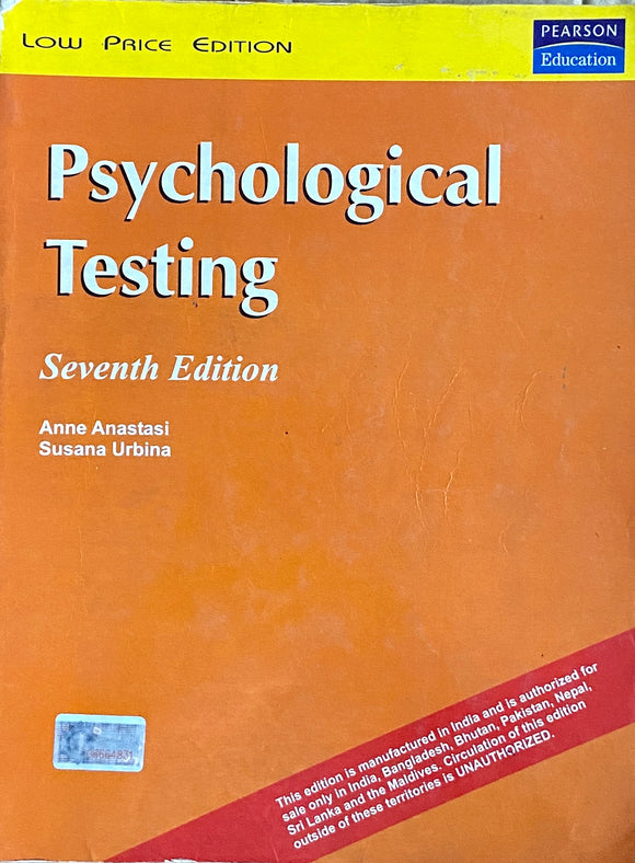 Psychological Testing by Anne Anastasi, Susana Urbina